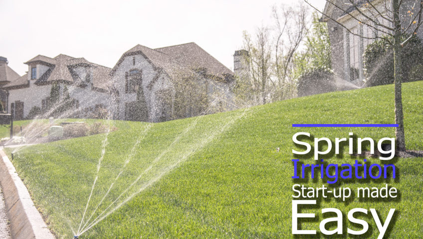 Irrigation sprinkler system start up
