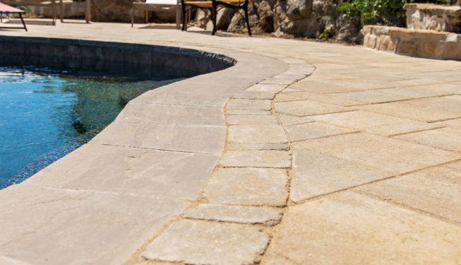 Poolside Paver Patio
