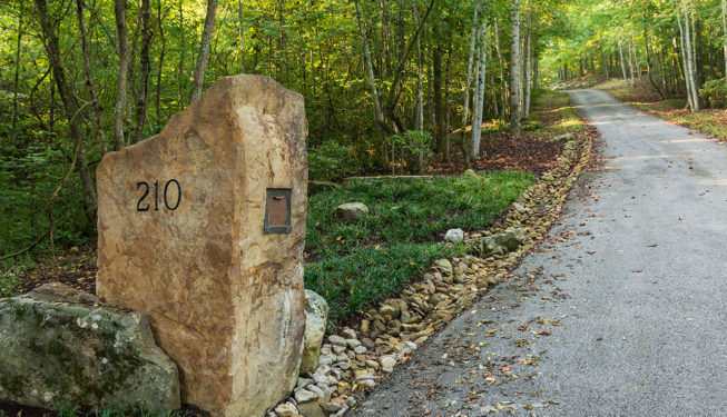 Stone Mail Box